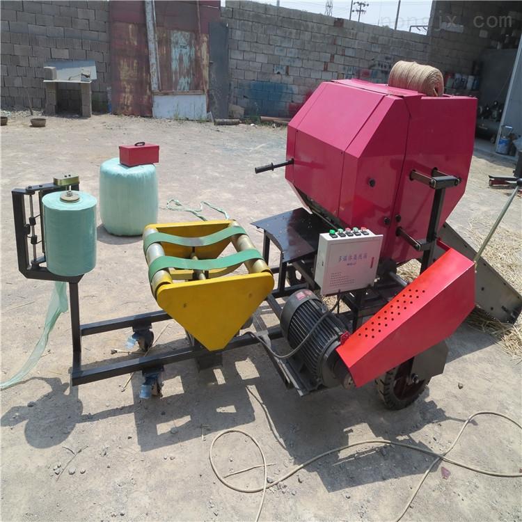 牧草保鲜打捆机 干湿草料打包机 秸秆包膜机