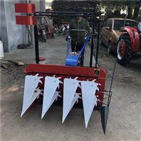 轴传动双层割晒机 玉米秆收割机 手扶割捆机