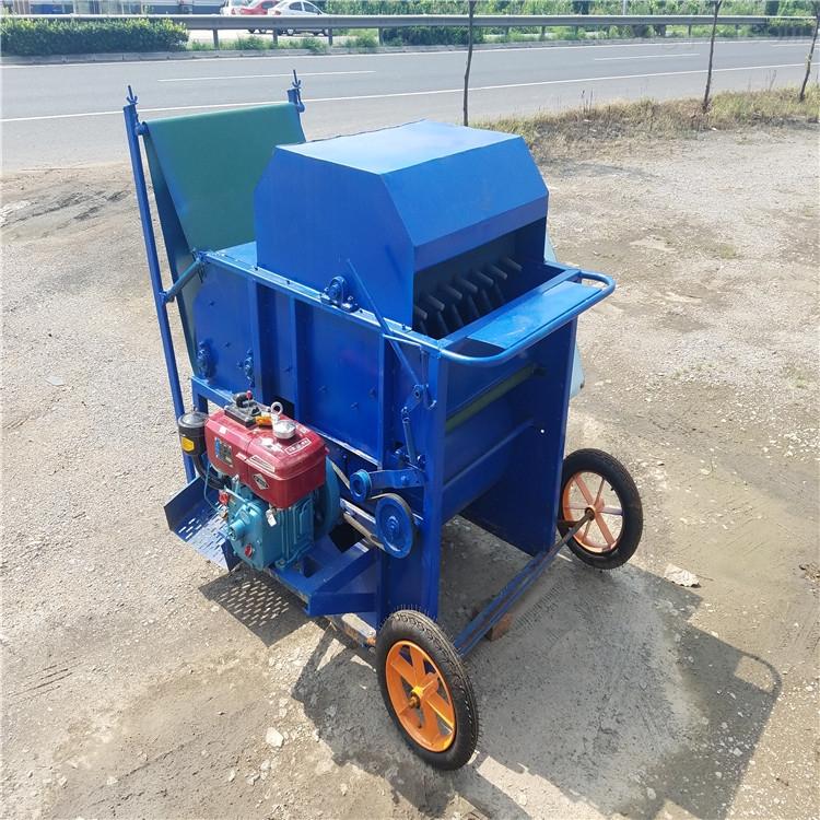 内蒙古毛豆采摘机价格 汽油动力毛豆摘荚机