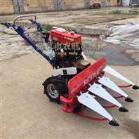 小型玉米麥子收割機 自走式艾葉水稻割曬機