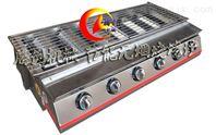 六开关节能燃气烧烤炉,商用烤面筋烧烤机