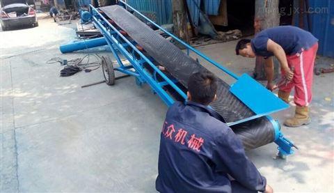 玉米装车入库带式输送机大倾角防滑皮带机