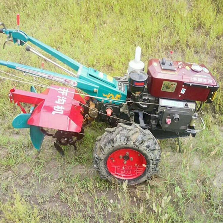 果树园101型手扶拖拉机带除草旋耕机