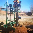 JX-WK大马力螺旋式汽油挖坑机 钻眼打洞机价格