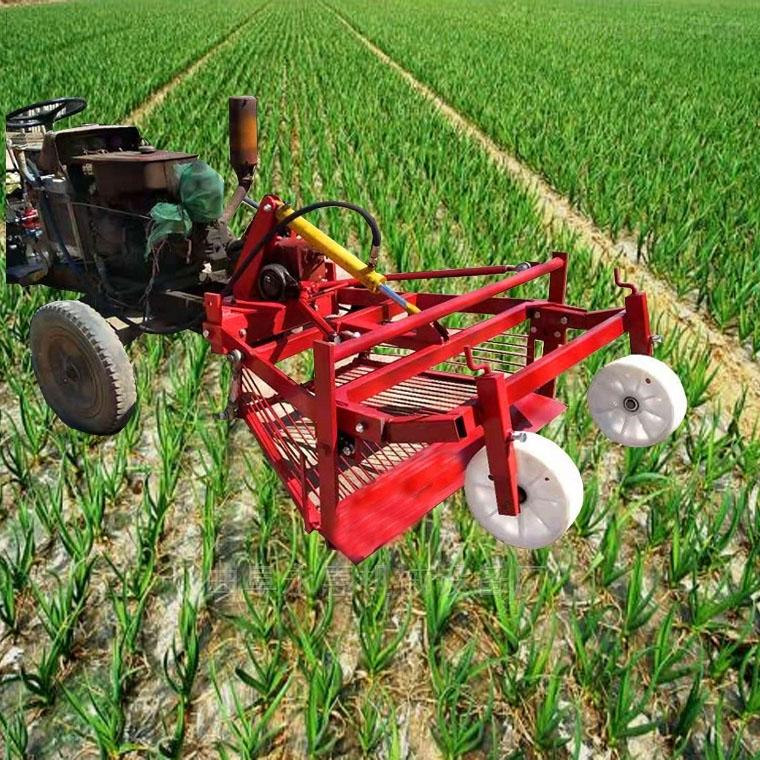 拖拉机前置大蒜收获机  全自动挖蒜机厂家