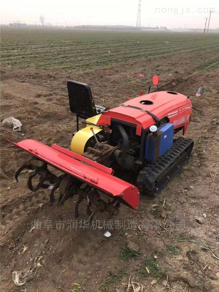 高原地塊施肥開溝機 帶座椅的履帶起壟機