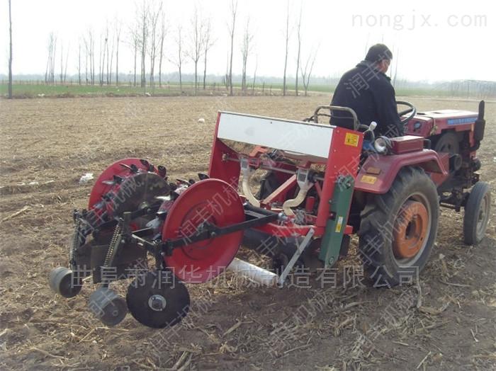 手扶车带花生大豆精播机 6行施肥玉米播种机