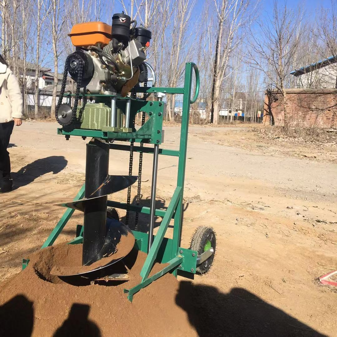 山区硬土地挖坑机 拖拉机后置大直径钻坑机