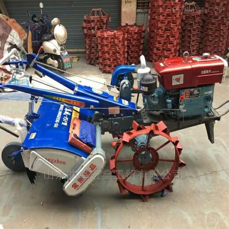 灵丘县十二匹齿轮传动手扶拖拉机旋耕机
