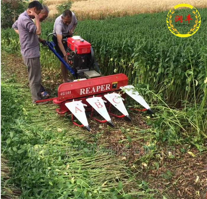 農牧草自走式割曬機 小型汽油蘆葦收割機