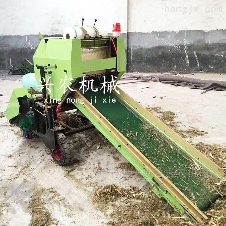 全自動飼料保鮮打捆機 稻草秸稈粉碎包膜機