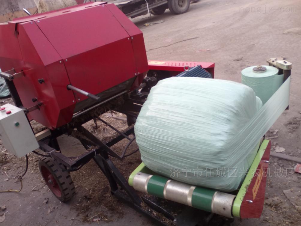 青储饲料打包机 稻草秸秆打捆包膜机