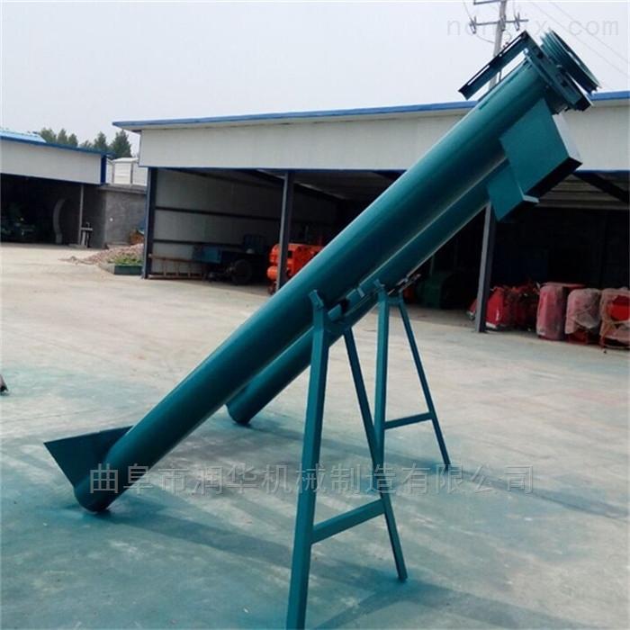 粮食筛选钢管提升机 高效率水泥粉上料机