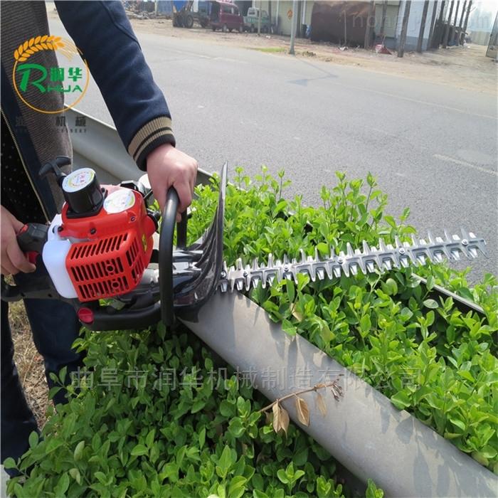汽油动力单双面绿篱机 花树造型绿篱修剪机