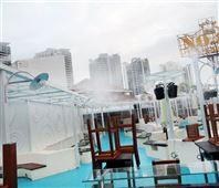 西安天然冷雾景观造景高压喷雾除尘降温装备