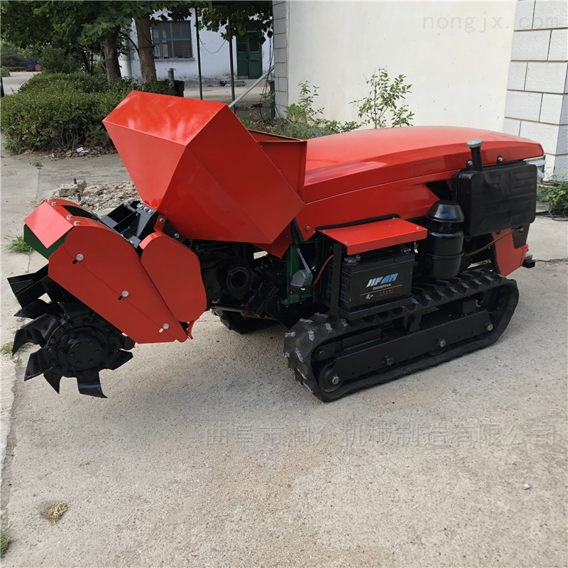 柴油动力果园开沟机 履带自走式大棚旋耕机