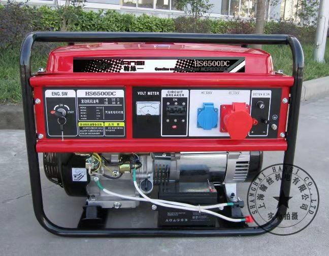 380V5kw汽油发电机HS6500DC价格