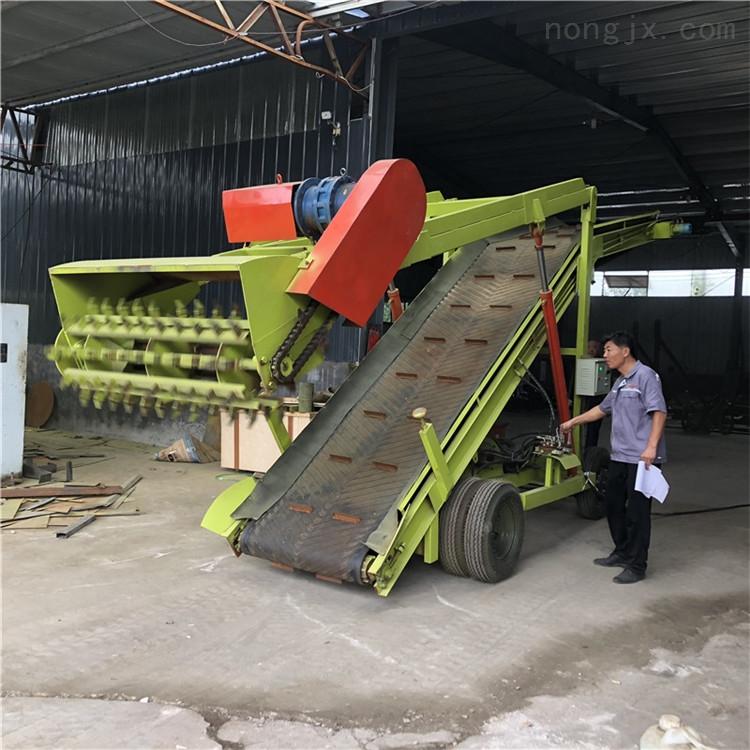 青贮窑取料机 斗式刮料机厂家 扒料装载机图