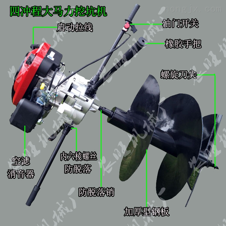 手提式汽油地鑽種植機 多功能植樹挖坑機