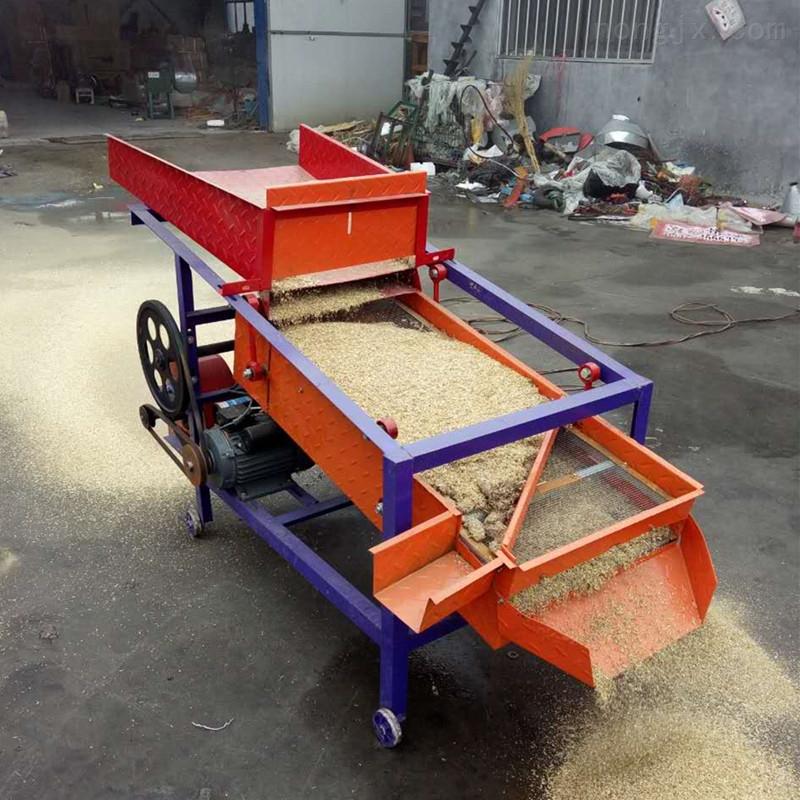 农用稻谷高粱筛选机 家用电双层粮食清选机