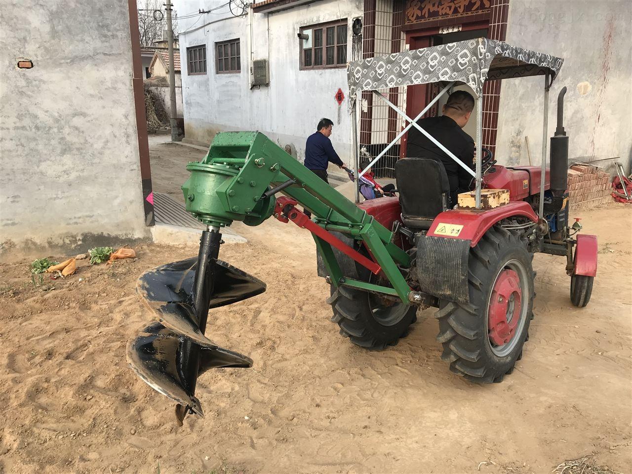 四轮牵引式挖坑机供应商