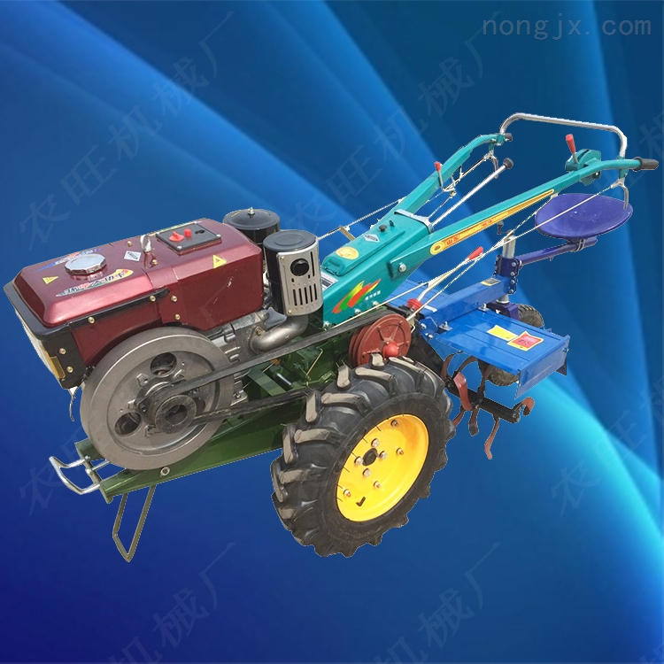 12马力农用手扶拖拉机  多功能打田犁地机