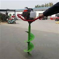 汽油轻便栽树挖坑机四轮悬挂式打坑机