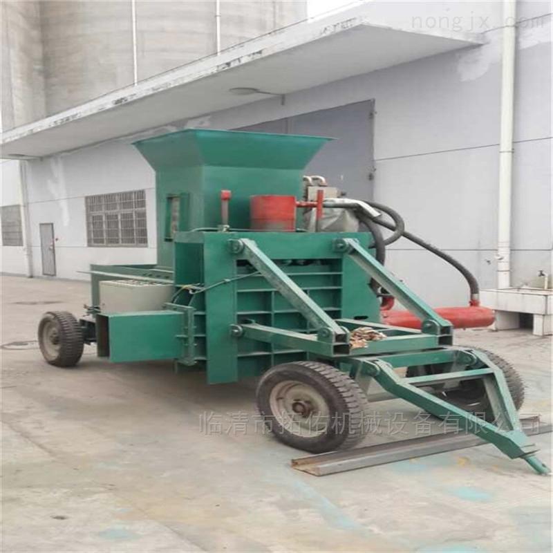 药材稻壳木屑打包机 稻壳压块机加工工艺