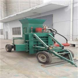 ZYD-100药材稻壳木屑打包机 稻壳压块机加工工艺