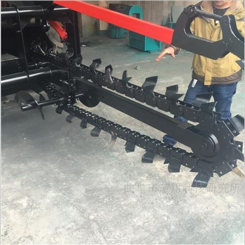 山東科陽大型自走式鏈條挖溝機多功能定制