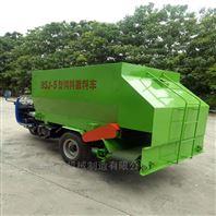 5立方柴油动力撒料车 饲料送料车
