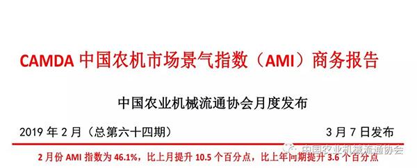 【AMI指数】2019年2月CAMDA中国千赢国际城市场景气指数(AMI)