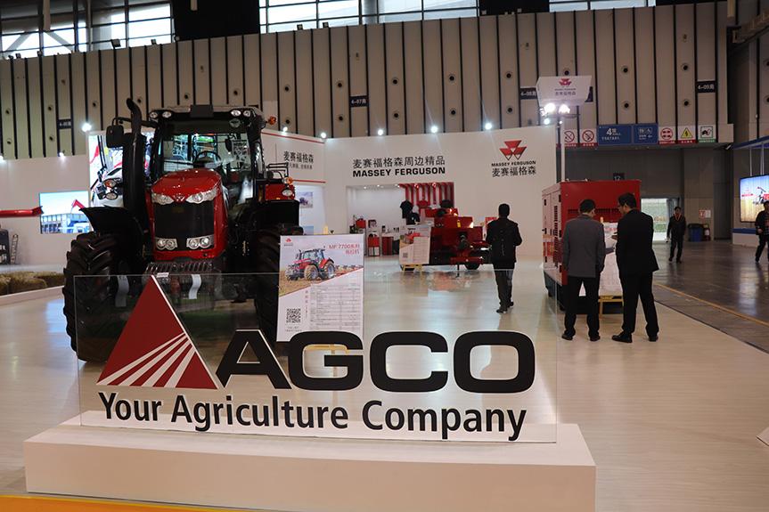 【第十届江苏国际农机展】爱科:一道亮丽的红色风景线