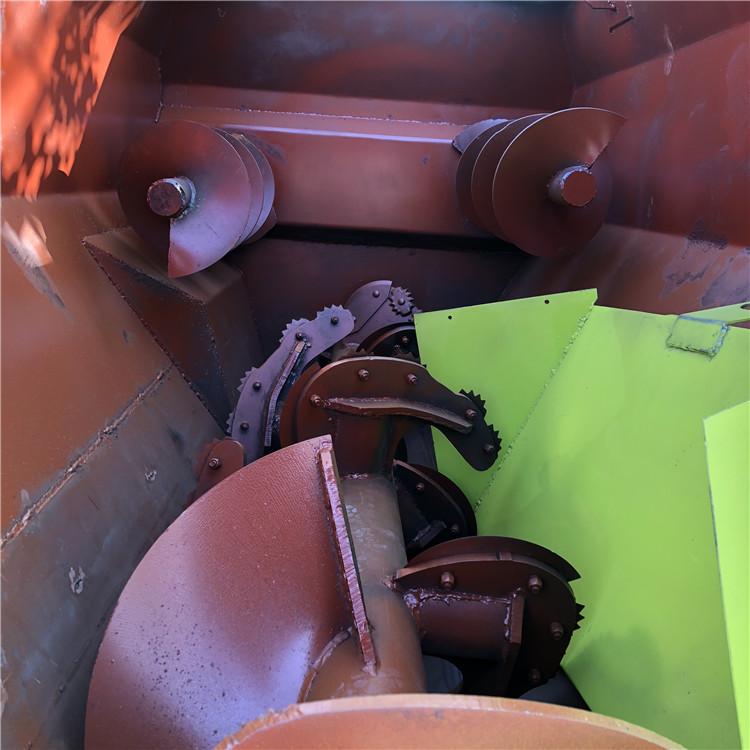 吴忠卧式3立方螺旋拌草机 双轴双波齿搅拌机